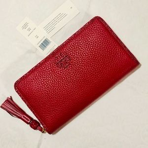 NWT~TORY BURCH~Taylor Leather Zip Cont. Wallet